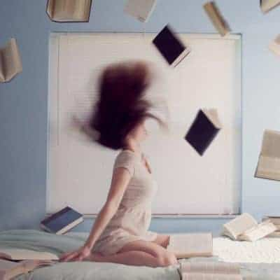 clairvoyant girl reading