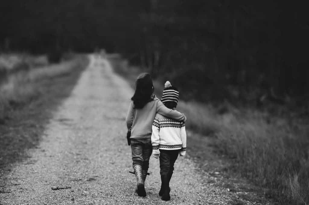 empath and clairsentient kid walking together
