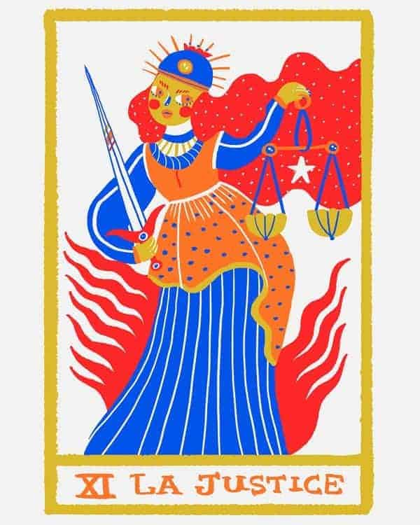 justice tarot love meaning