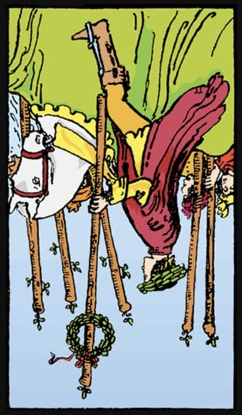 reversed six of wands