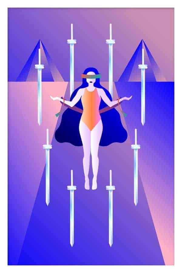eight of swords person