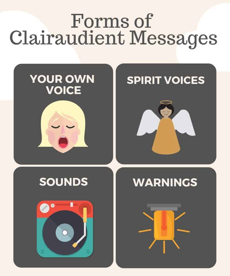 forms of clauraudient messages