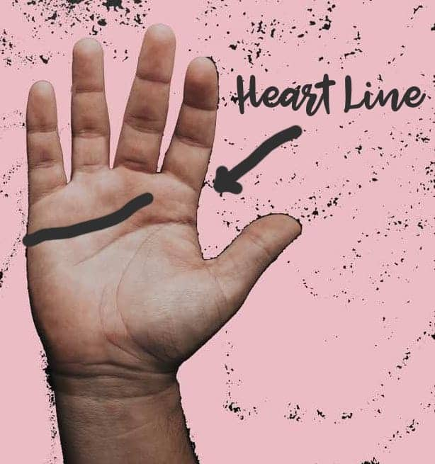 palm reading heart line
