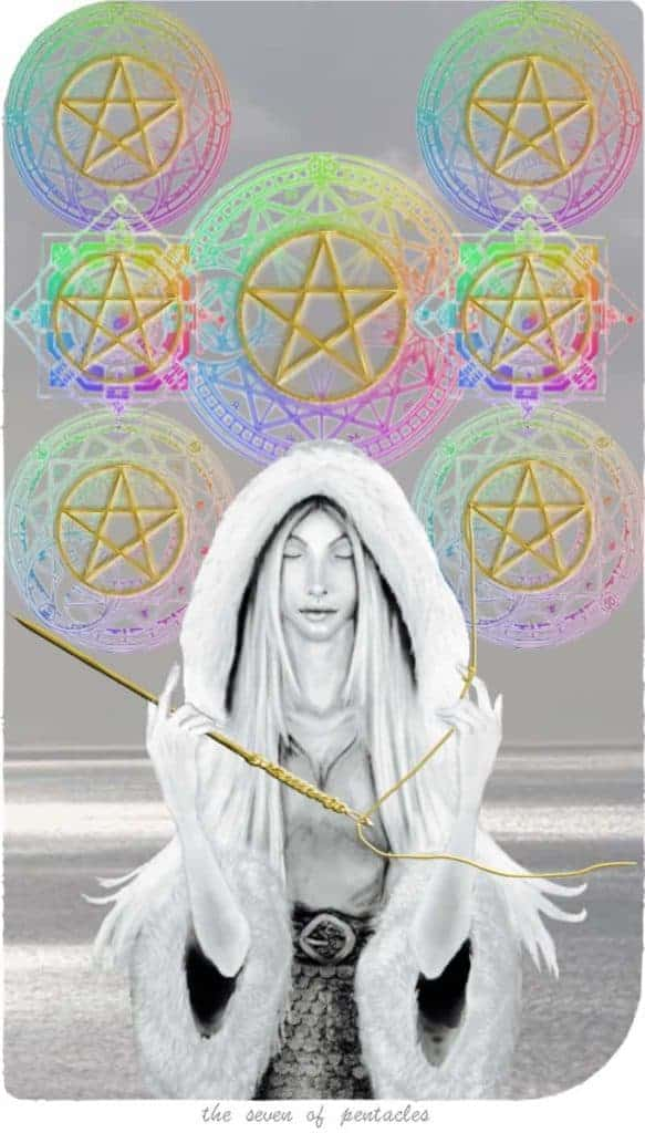 seven of pentacles love