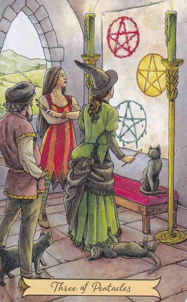 three of pentacles love meaning