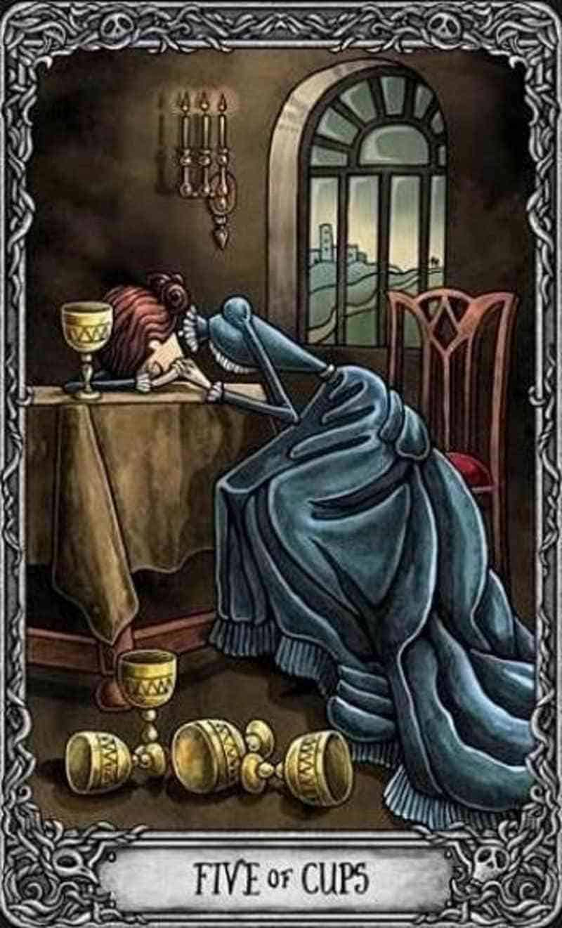 five of cups love