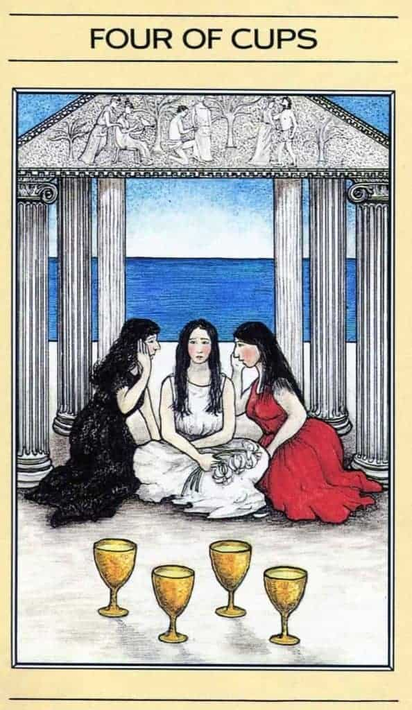 four of cups and high priestess