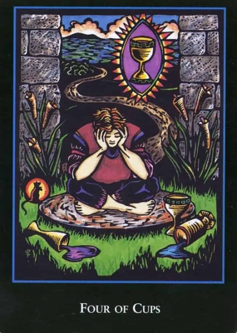 four of cups biddy