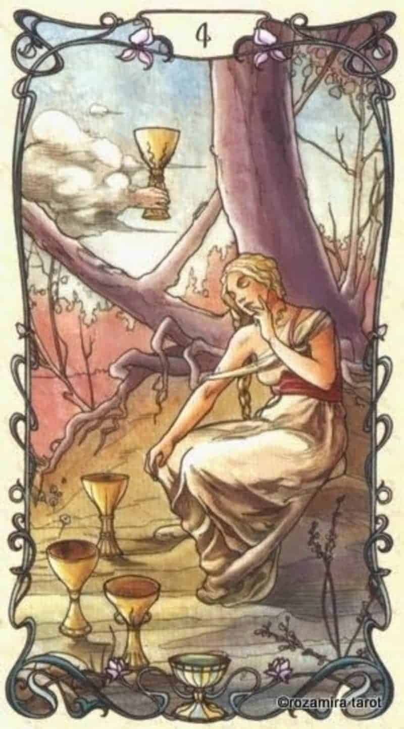 four of cups in love