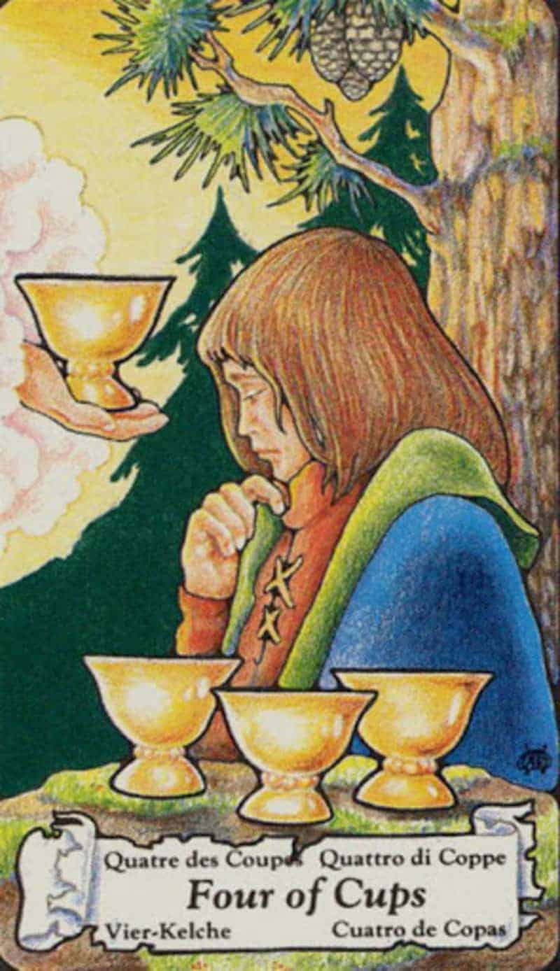 four of cups wild unknown