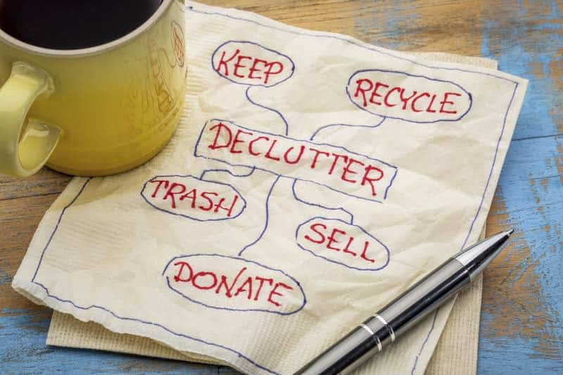 checklist for decluttering your home