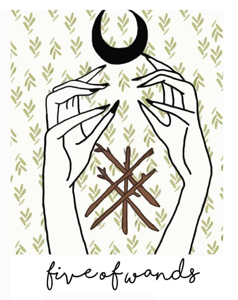 five of wands meaning