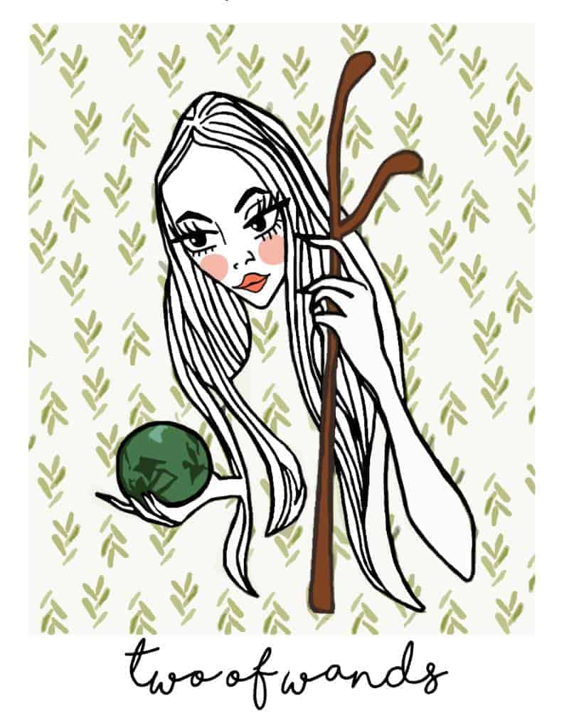 two of wands love