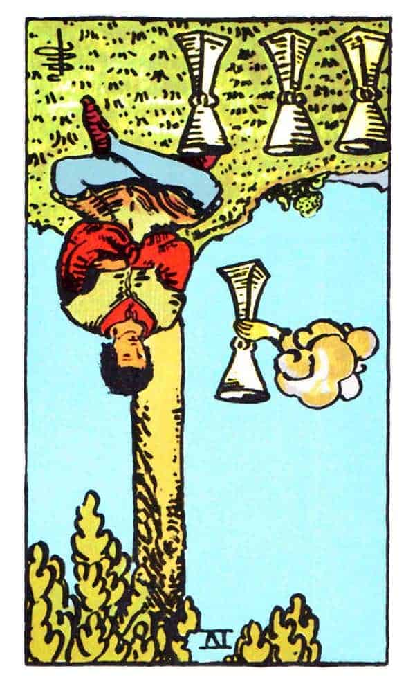 four of cups reversed