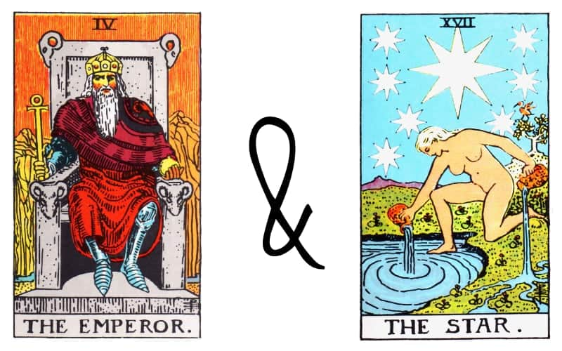 emperor and the star tarot card combination