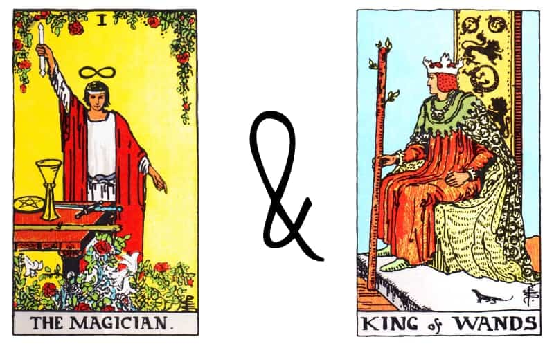 magician king of wands card combinations in tarot
