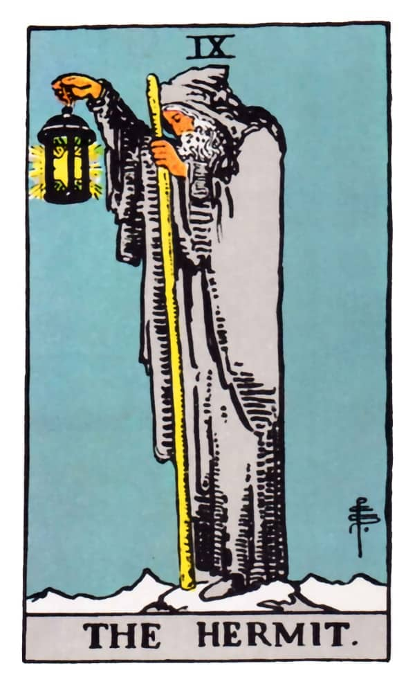 the hermit tarot card meaning rider waite