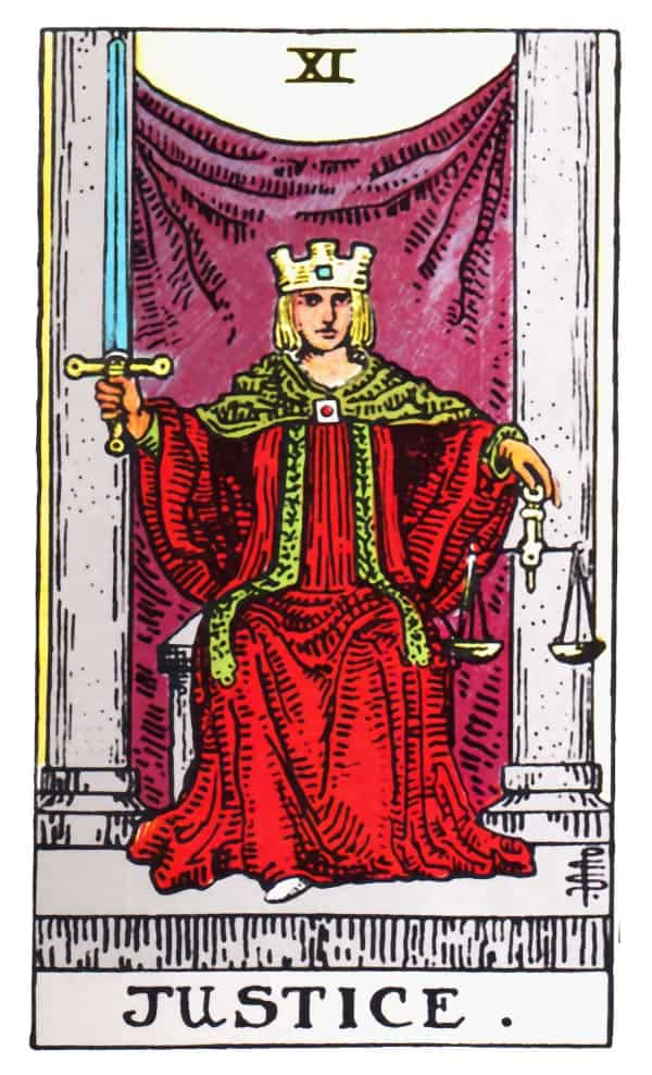 justice tarot card meaning
