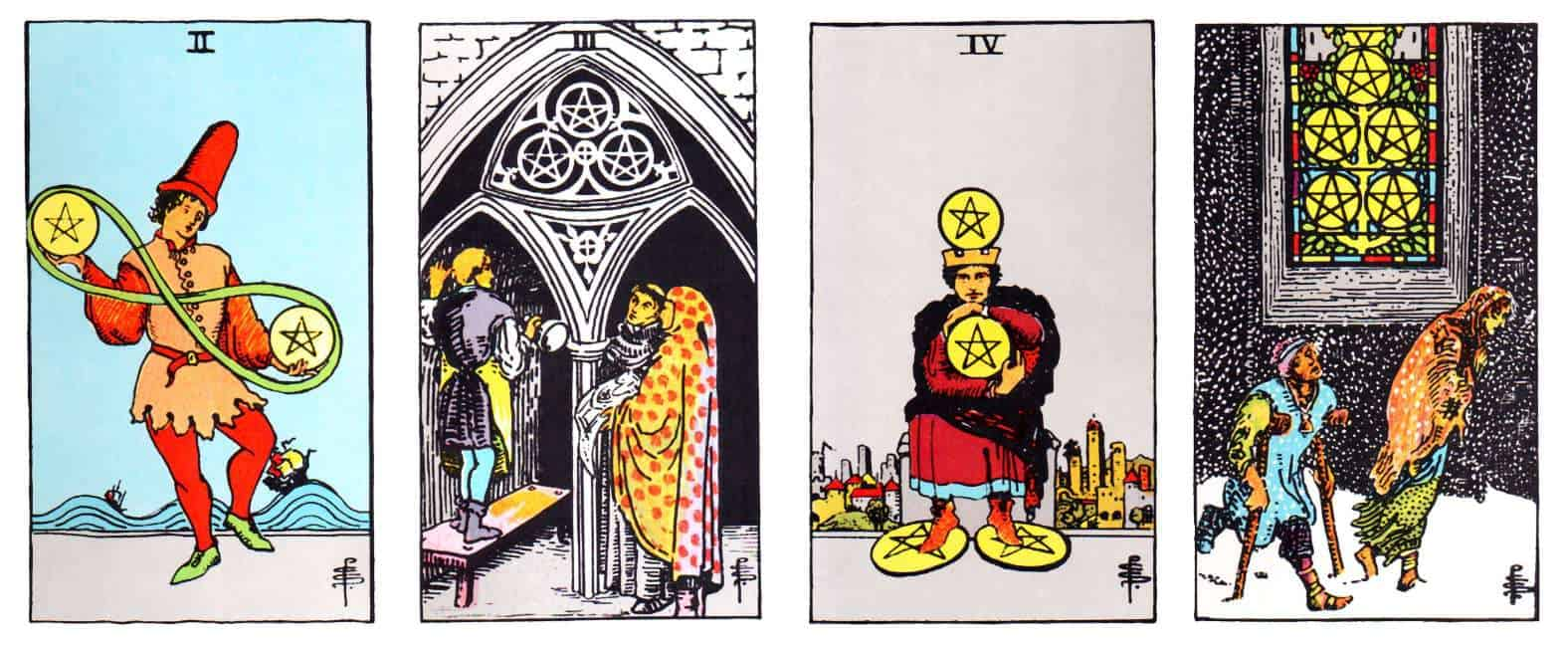 minor arcana suits of pentacles
