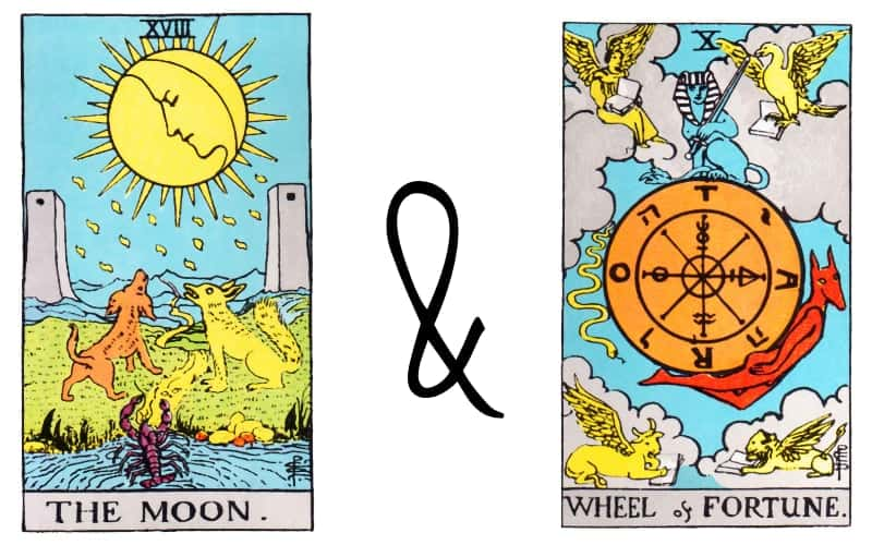 the moon combined wheel of fortune cards