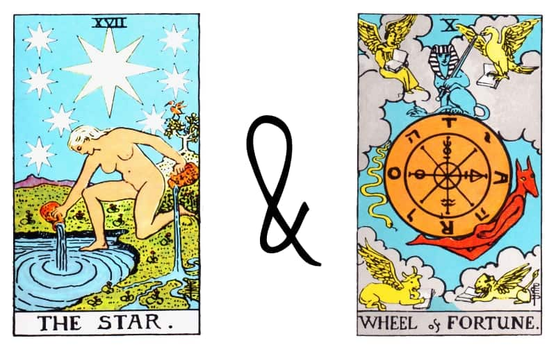 the star and wheel of fortune tarot combination