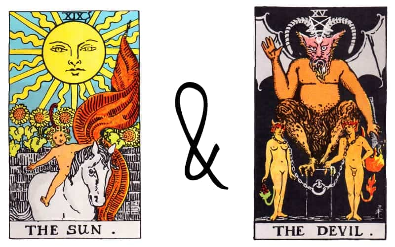 the sun and devil card combination