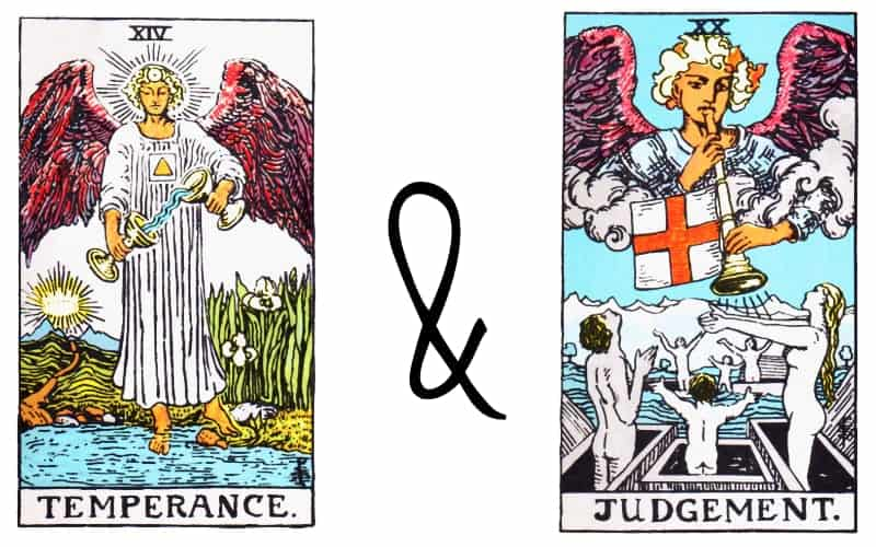 the temperance card combination with judgement card