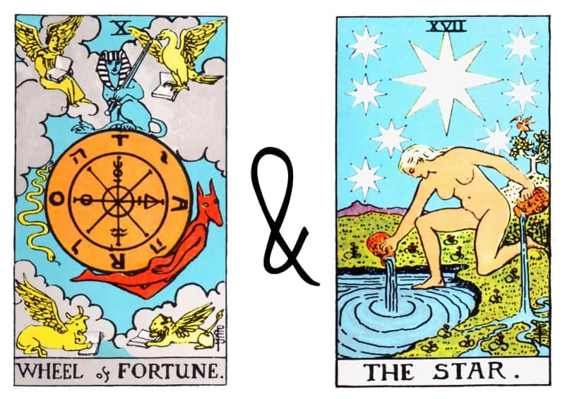 the wheel of fortune and the star