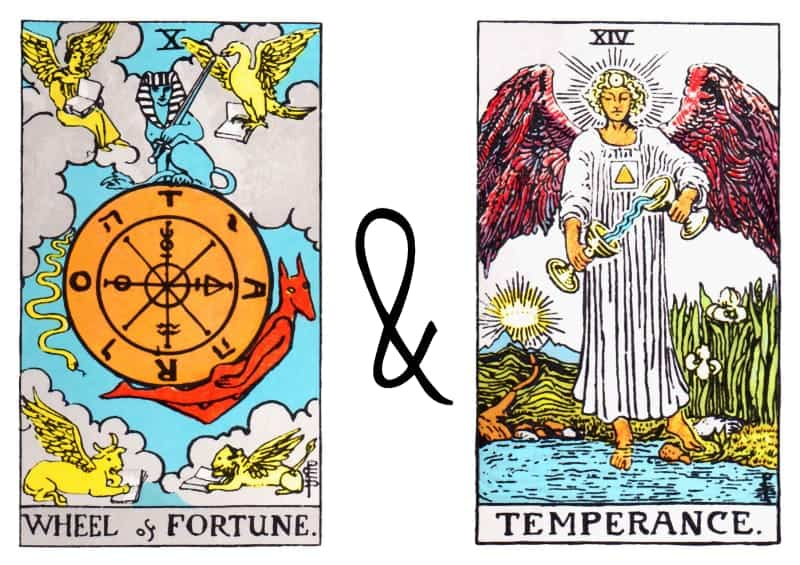 the wheel of fortune with temperance