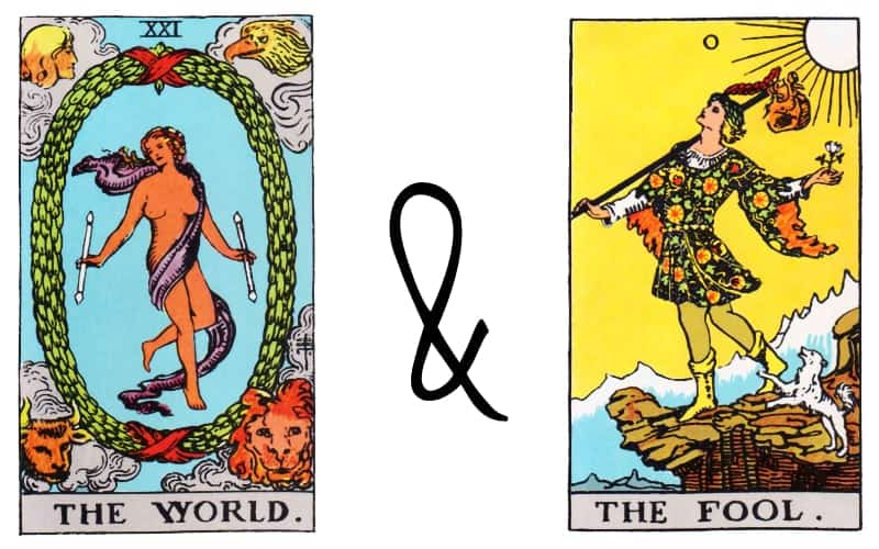 the world and the fool tarot combination spread