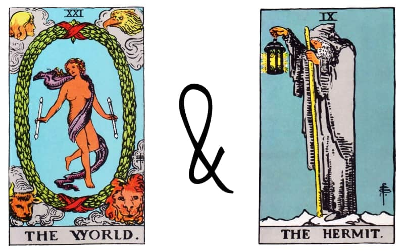 the world and the hermit combination