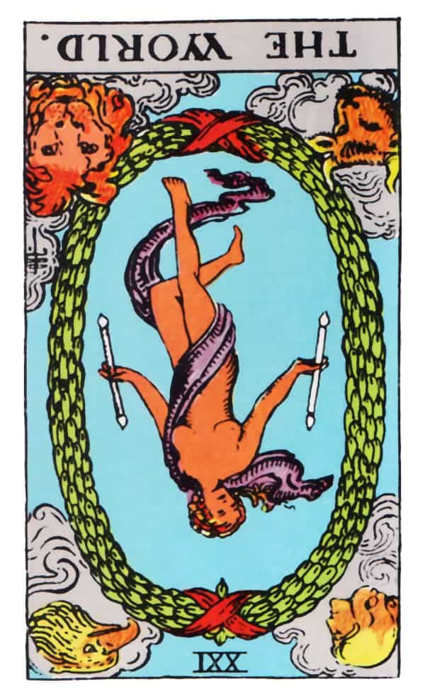 the world tarot card reversed meaning