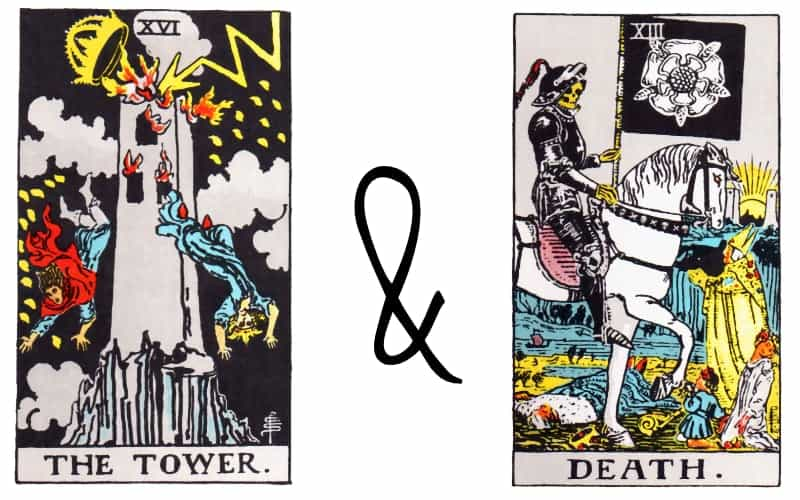 tower and death card combination