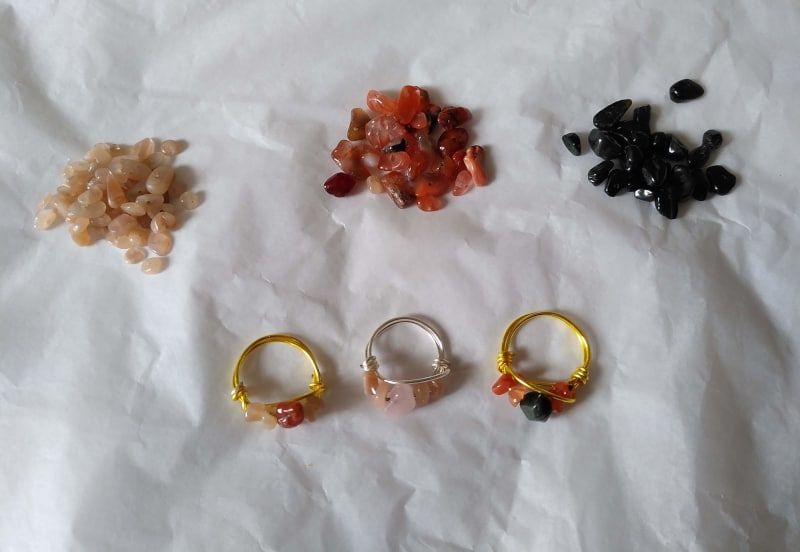 how to make crystal healing jewerly