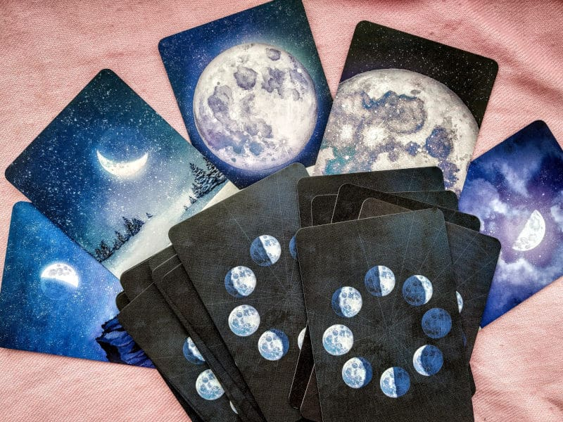 moon cycle oracle cards